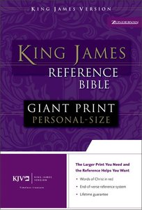 KJV Personal Giant Print Reference Bible Burgundy