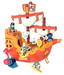 Buy Veggie Tales Plastic Pirate Ship With Accessories Online
