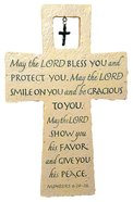 Cross With Metal Cross: May the Lord Bless You Numbers 6:24-26 Homeware