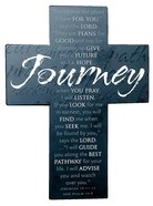 Large Metal Message Cross: Journey Various Scriptures, Black Homeware