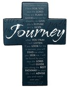 Mini Metal Message Cross: Journey Various Scriptures, Black Homeware