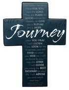 Mini Metal Message Cross: Journey Various Scriptures, Black