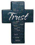 Mini Metal Message Cross: Trust Various Scriptures, Black Homeware
