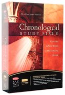 NKJV Chronological Study Bible Black Cherry Bonded Leather