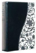 NLT Life Application Study Bible Personal Black/ Vintage Cream Floral Fabric Imitation Leather
