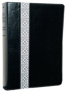 NLT Study Bible Black Fabric/White Floral Imitation Leather