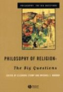 Philosophy of Religion: Big Questions Paperback