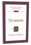 Numbers (Re-Formatted) (Tyndale Old Testament Commentary Re-issued/revised Series) Paperback