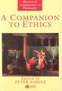 A Companion to Ethics Paperback