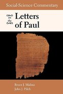Social-Science Commentary on the Letters of Paul Paperback