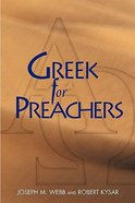 Greek For Preachers Paperback