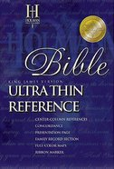 KJV Ultrathin Reference Black Index Bonded Leather