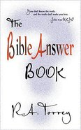 The Bible Answer Book Paperback