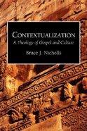 Contextualization Paperback