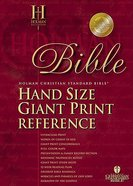 HCSB Hand Size Giant Print Reference Classic Edition Tan Indexed Bonded Leather