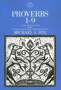 Proverbs 1-9 (Anchor Yale Bible Commentaries Series)