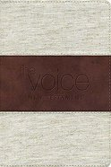 Voice New Testament Beige/Dark Brown Cloth Leather Imitation Leather