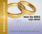 What the Bible Says About Marriage (1 Cd)
