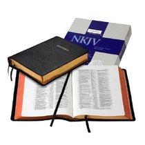 NKJV Wide Margin Reference ) (Black Goatskin Leather (Red Letter Edition)