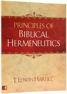 Principles of Biblical Hermeneutics Paperback