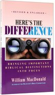 Here's the Difference Paperback