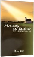 Morning Meditations Paperback