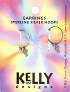 Earrings Kelly Design: Hoop Plain Cross (Lead-free Pewter) Jewellery