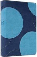 NKJV Reference Bible Dark Blue/Aqua Imitation Leather
