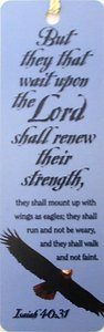 Tassel Bookmark: But They That Wait on the Lord Shall Renew Their Strength
