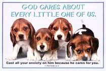 Poster Small: God Cares About Every Little One of Us