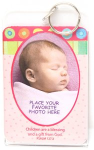 Acrylic Keyring: Baby Girl (Holds A Photo)