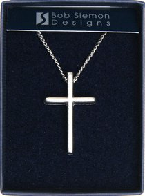 Pendant: Basic Cross Large (Pewter)