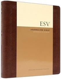 ESV Journaling Bible Mocha Threshold (Black Letter Edition)