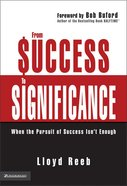 From Success to Significance Hardback