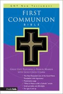 GNB Children's First Communion New Testament With Psalms & Proverbs Compact Black Imitation Leather