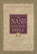 NASB Zondervan Study Navy Bonded Leather