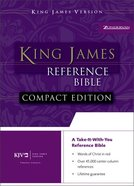 KJV Compact Reference Burgundy Button Flap Bonded Leather