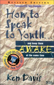 How to Speak to Youth... and Keep Them Awake At the Same Time