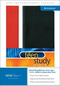 NIV Teen Study Bible Red/Black Italian Duo-Tone
