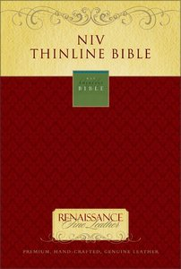NIV (1984) Thinline Bible Renaissance Fine Leather Ebony