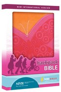 NIV Backpack Flutter Pink Duo-Tone Bible Imitation Leather
