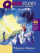 Quick Studies: Philippians-Hebrews Paperback