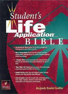 NLT Students Life Application Bible Burgundy Bonded Leather