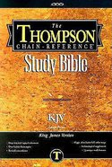 KJV Thompson Chain Reference Large Print Brown Index Hardback