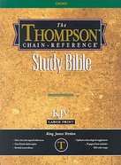 KJV Thompson Chain Reference Large Print Black Index Genuine Leather