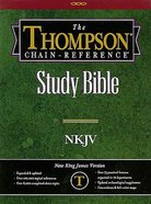 NKJV Thompson Chain Burgundy Genuine Leather