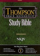 NKJV Thompson Chain Reference Burgundy Index Genuine Leather