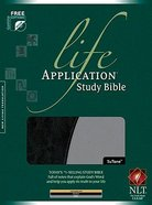 NLT Life Application Study Bible Black/Grey Tutone (Red Letter Edition) Imitation Leather