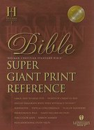 HCSB Super Giant Print Reference Black Indexed (Red Letter Edition) Genuine Leather