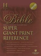 HCSB Super Giant Print Reference Burgundy Indexed (Red Letter Edition) Genuine Leather
